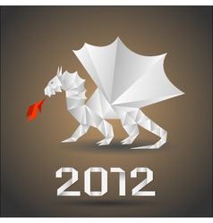 Dragon origami vector