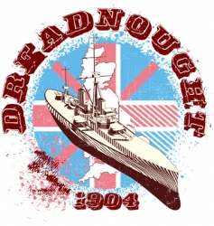 dreadnought vector image vector image