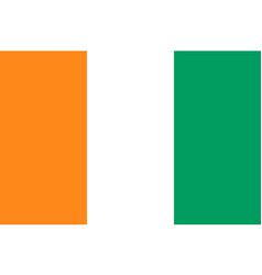 Ivory coast c te d ivoire flat style flag vector