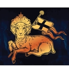 Lamb of god christian symbol vector