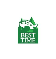 Logo best time vector