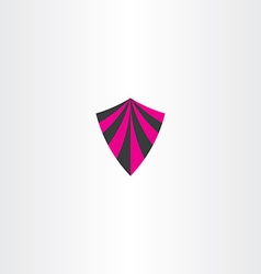 magenta black shield icon element vector image