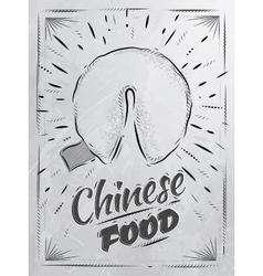 Poster chinese food fortune cookies coal vector