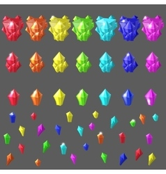 Set of magic crystals vector
