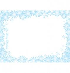 snowflake Christmas white night vector image