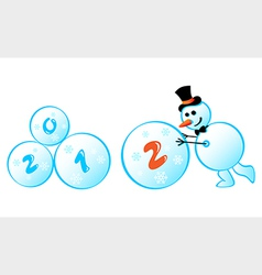 snowman 2012 vector image vector image
