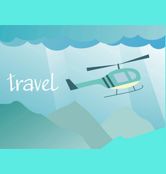 travel to the helicopter vector image