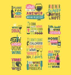 wine hand drawn logo badge vector image vector image