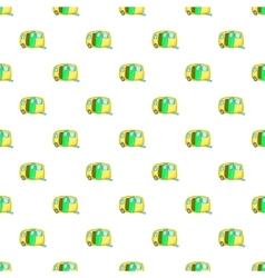 Yellow trailer pattern cartoon style vector