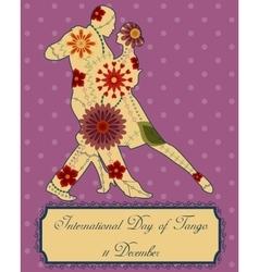 Tango day background retro vector image
