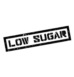 Low sugar rubber stamp vector