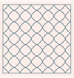 Gray traditional geometric quatrefoil trellis vector