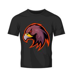 furious eagle head sport logo concept vector image