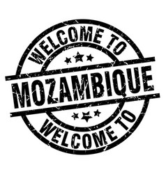 Welcome to mozambique black stamp vector