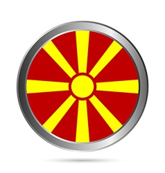 Macedonia flag button vector