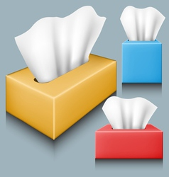 Tissue box set vector image