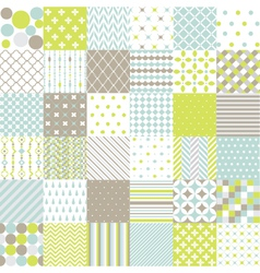 Seamless patterns - digital scrapbook vector