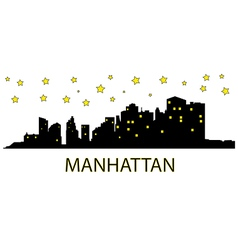 Manhattan with stars vector