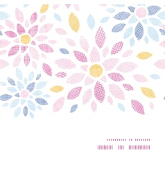 Abstract textile colorful flowers horizontal frame vector
