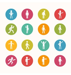 People icon circle series vector