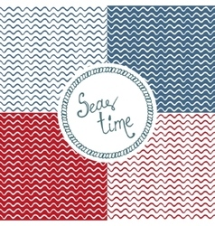Sea time wave background vector