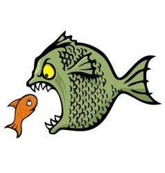 bully fish vector image