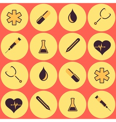 Seamless background with medicine symbols vector