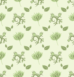 Gentle green seamless pattern vector