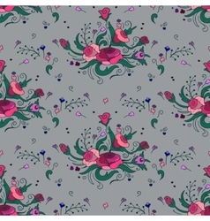 Seamless pattern with bouquets of rose vector