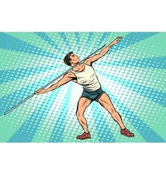 Javelin thrower athletics summer sports games vector