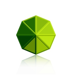 Octagon triangle green icon vector