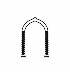 Arch icon simple style vector