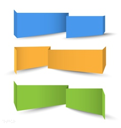 Origami banners for web design vector