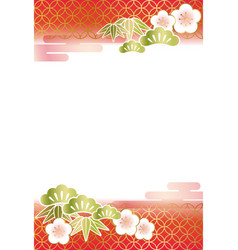 A japanese new years card template vector