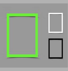 a4 paper frame vertical vector image