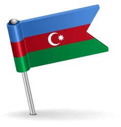Azerbaijan pin icon flag vector image