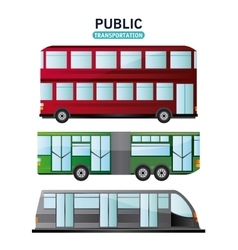 Bus cable car and railways vehicle design vector