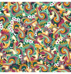 Colorful seamless paisley background vector image vector image