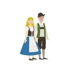 Couple In German National Clothes vector image