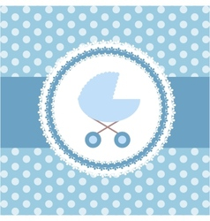 Cute BABY BOY greeting card vector image vector image