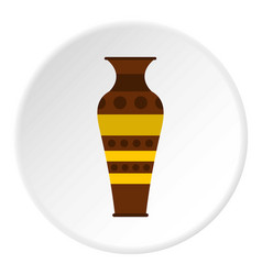 Egyptian pottery vessel icon circle vector