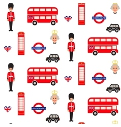 England symbols seamless pattern vector