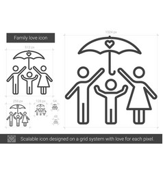 family love line icon vector image vector image