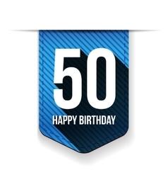 Fifty years happy birthday ribbon vector