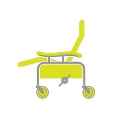 Flat icon of surgical chair vector