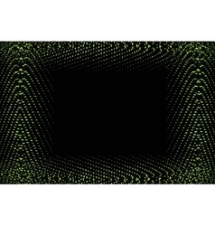 frame of green lights vector image