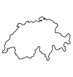 isolated swiss map vector image