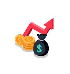mutual found money icon vector image vector image