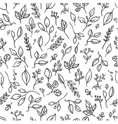 pattern with branches vector image vector image
