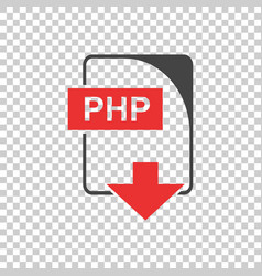 Php icon flat vector